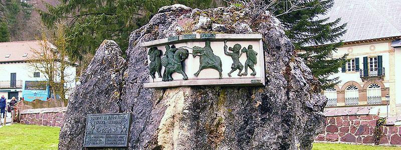 Памятник в честь подвига Роланда