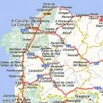 Карта автодорог Галисии