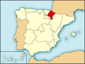 Местоположение Наварры на Пиренейском полуострове